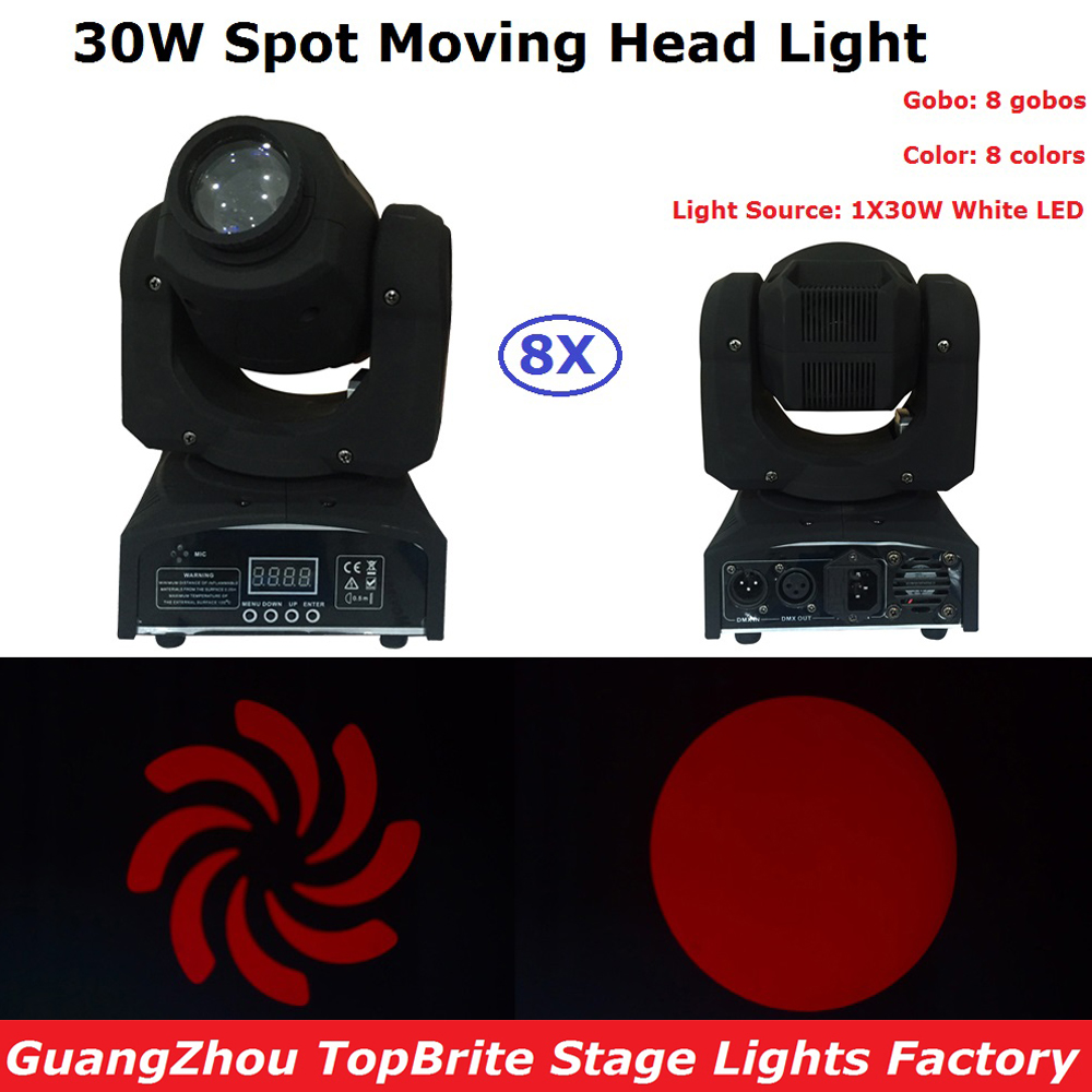 8 Pack 30W LED Moving Head Light DMX DJ Disco Party Wedding Stage Effect Fixture 30W White LED Spot Moving Head Light Fast Ship8 Pack 30W LED Moving Head Light DMX DJ Disco Party Wedding Stage Effect Fixture 30W White LED Spot Moving Head Light Fast Ship