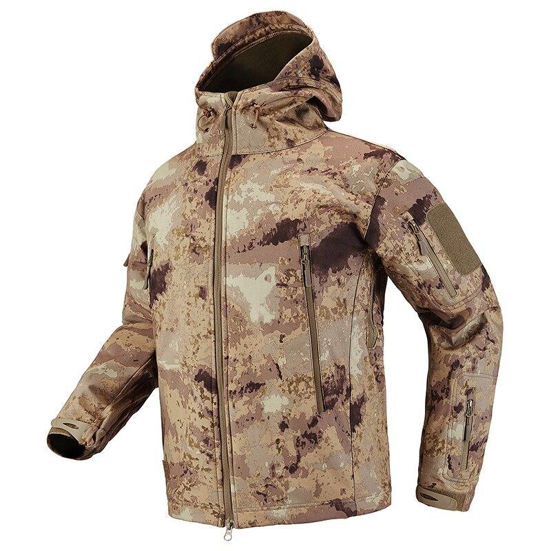 S.ARCHON Shark Skin Soft Shell Tactical Military Jacket Men Fleece Waterproof Army Clothing Multicam Camouflage Windbreakers Men 11