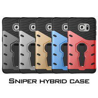 case for Samsung Galaxy s6 edge,30pcs/lot,SNIPER HYBRID case TPU+PC with kickstand for Galaxy s6 edge,2016 New,free shipping