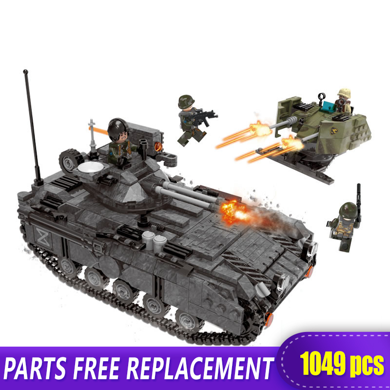 XINGBAO 06018 Genuine 1049PCS Military Series The Armoured Vehicle Set Building Blocks Bricks Educational Toys As