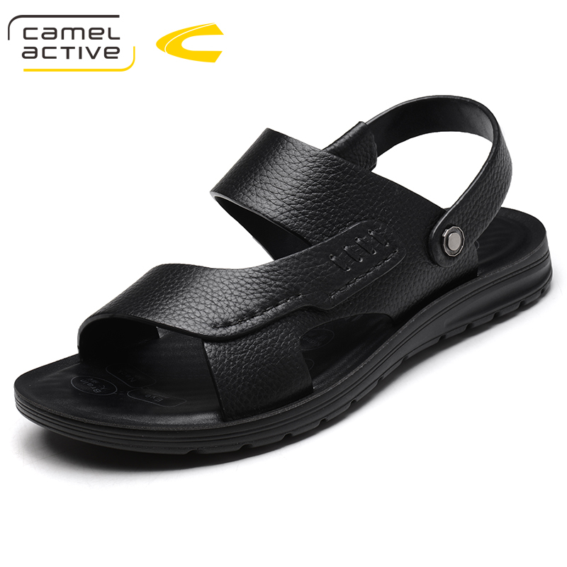 Camel Active 2018 Summer Style Quality Genuine Leather Male Shoes For Men Sandals Adult Brand Casual Comfortable Beach Shoes