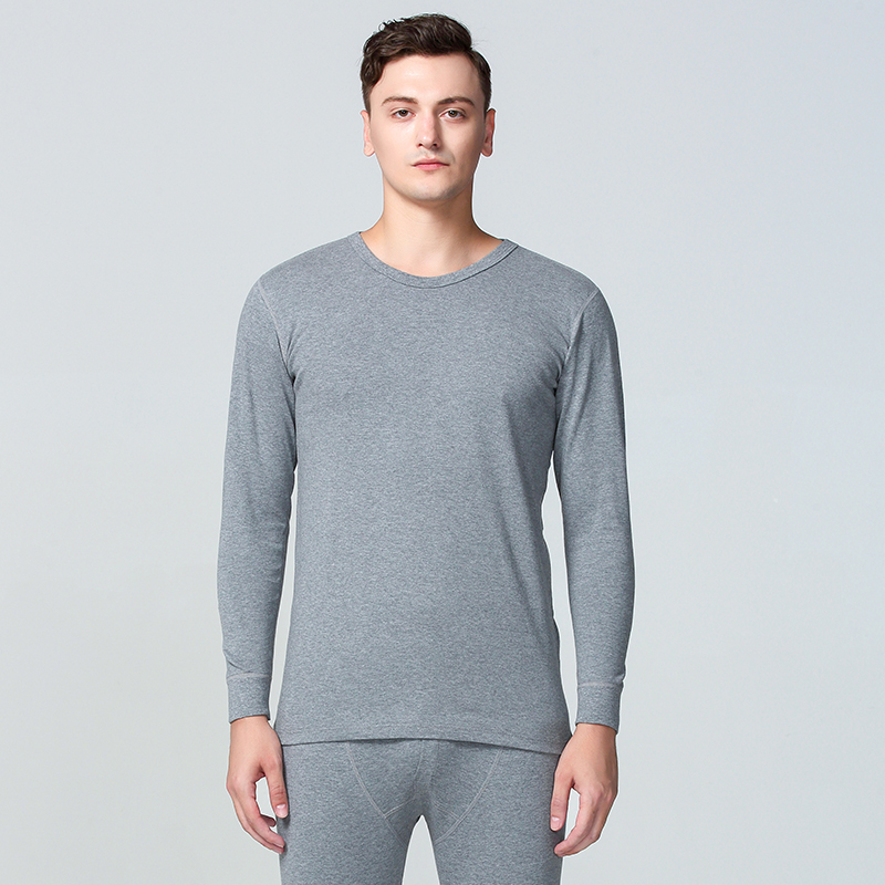 Long Johns Men Thermal Underwear Sets 100% Cotton Simple Solid Keep Warm For Man Male Clothing Sleep Wear 1 Set New Winter M-XXL