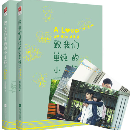 2pcs A Love So Beautiful Warm Love Novels Funny Youth Literature By Zhao Qianqian Chinese Popular Fiction Novel(China)