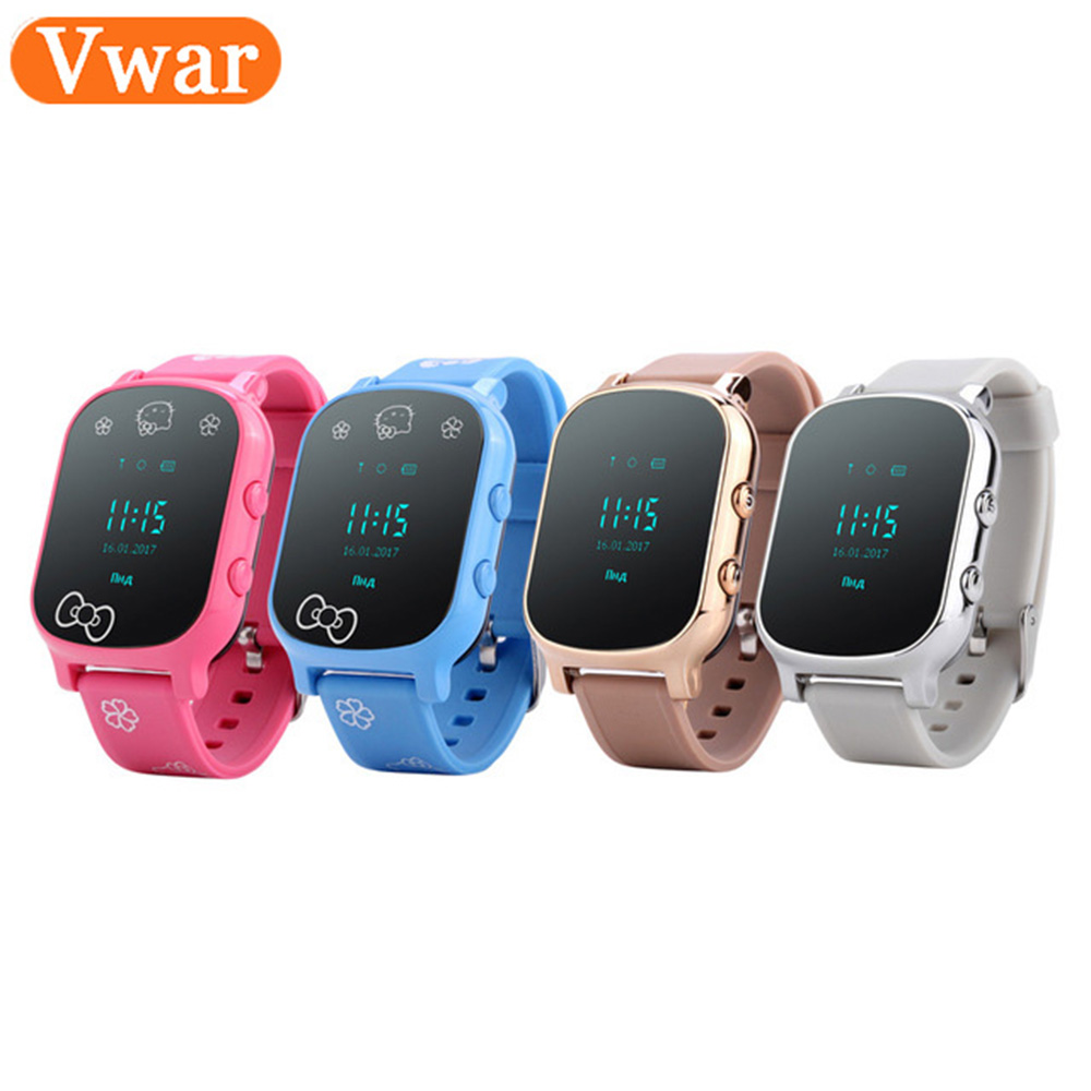 Vwar W58 Kids Smart Watch WIFI GPS Tracker Locator 0 96 INCH Screen Smartwatch Phone SOS