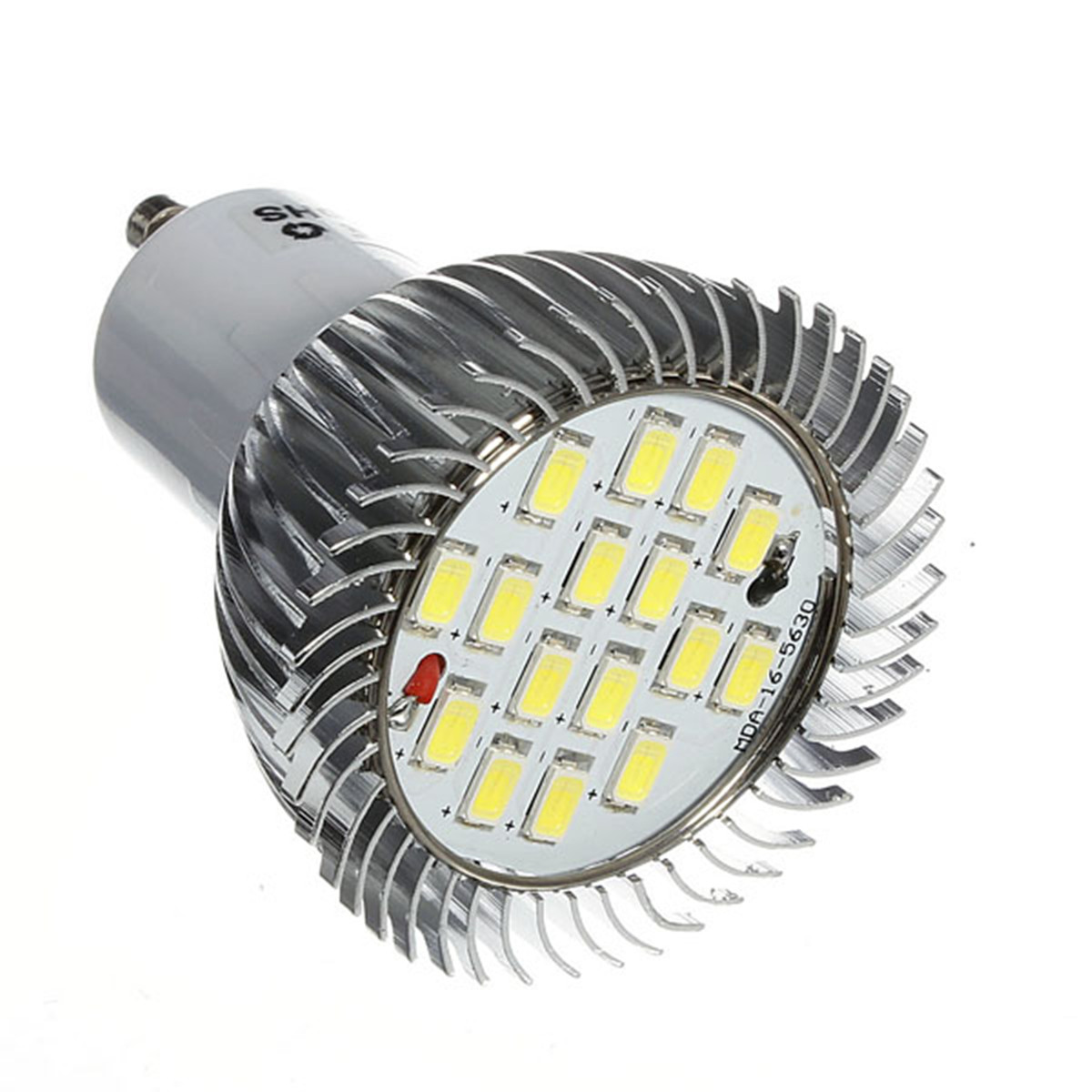 1x 10x GU10 7W 640LM 16 LED 5630 SMD Energy Saving Spotlight Bulb Home Lamp Pure White Chandelier Lighting Fixture AC85-265V