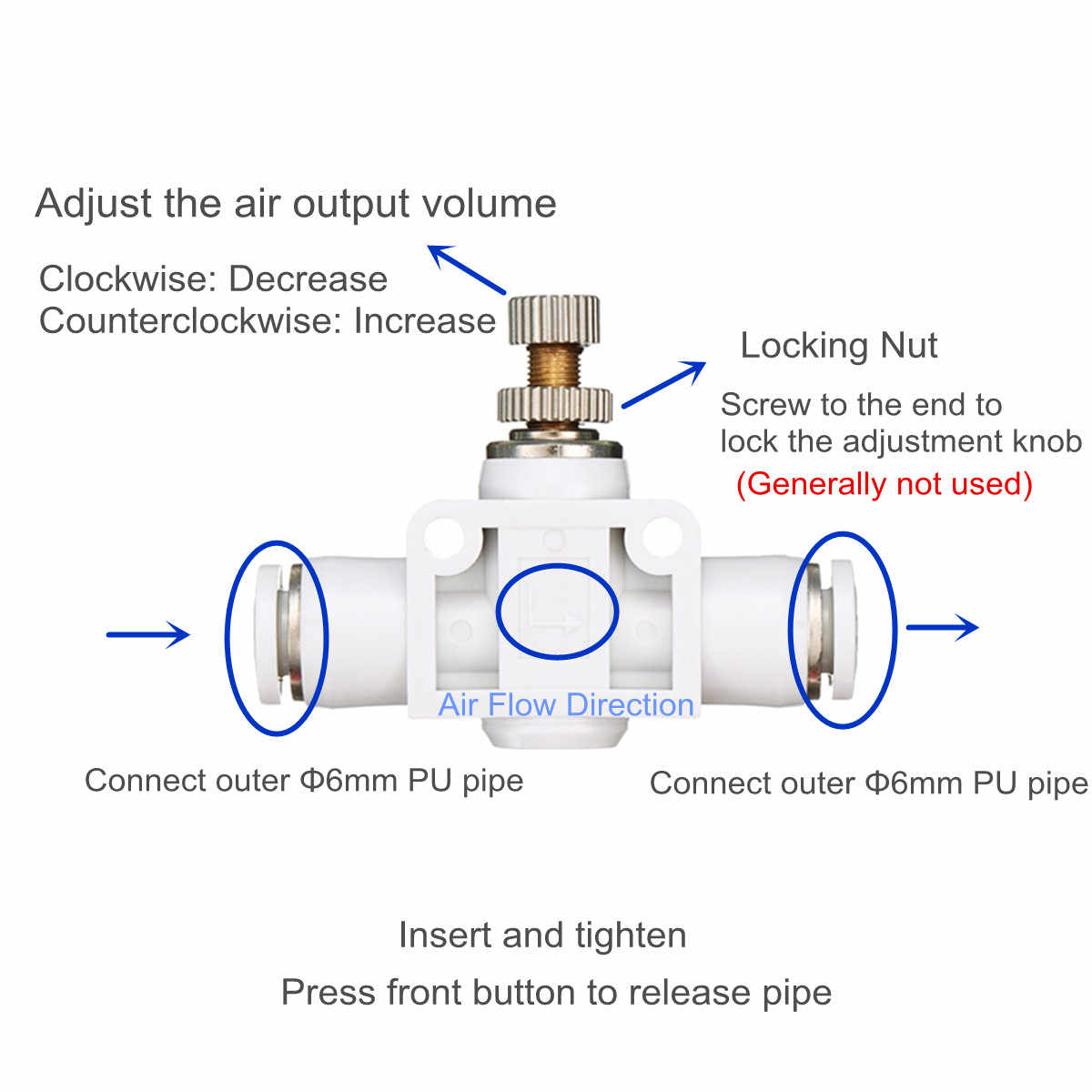 small resolution of  aquarium fish tank co2 generator regulator valve plant diffuser regulator co2 equipment accessories aquatic pet supplies