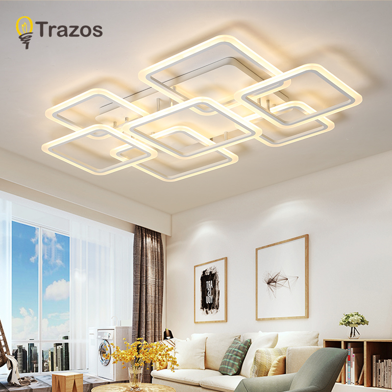 Modern Ceiling Lights LED Lamp For Living Room Bedroom Study Room White color surface mounted Ceiling Lamp Deco AC220 240V|Ceiling Lights| |  - title=
