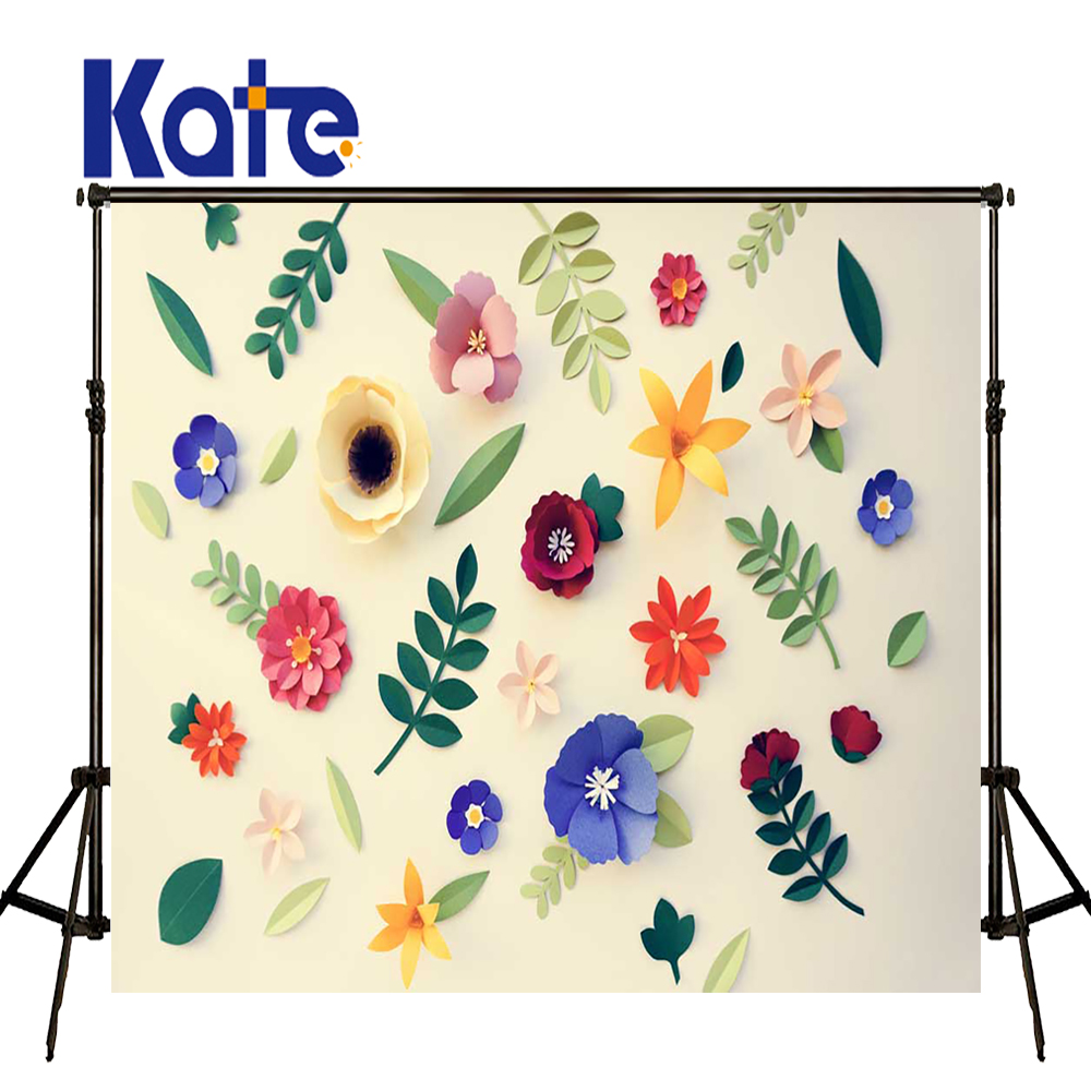 KATE Photography Background 5x7ft 3D Flower Backdrop Beige Soliod Brick Wall Background Kids Wall Photo Backgrounds for Studio kate christmas backdrop photography brick wall white bear tree box background white floor for children photo studio background