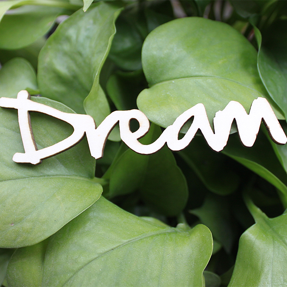 10 шт. Деревянный Письмо мечта знак Вдохновляющие Слова Книги по искусству украшение стены орнаментом подарок на новоселье