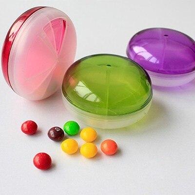 1 шт. 3.5*7.8 см конфеты Цветной Пластик Портативный аптечка Витамин Медицина Pill Box НЛО Форма три сетки для хранения Коробки 1887PB