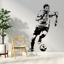 Free shipping football player Pvc Wall Art Stickers Modern Fashion Wallsticker For Bedroom Nature Decoration Accessories