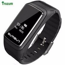 Новый 0.71 »OLED умный Браслет B7 Bluetooth наушники Стиль сердечного ритма Мониторы напоминание смарт-браслет для iphone Huawei