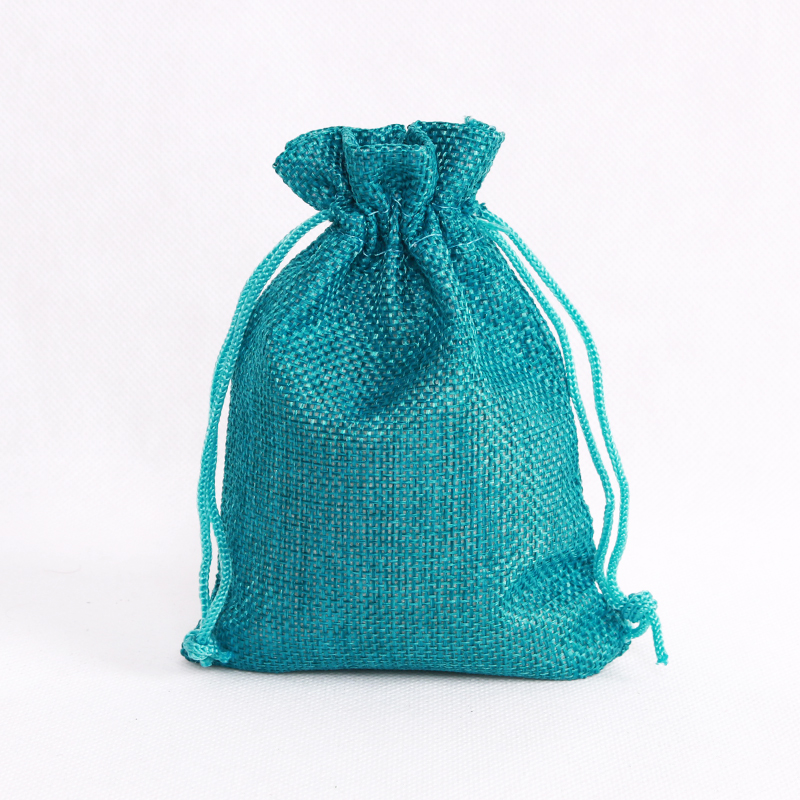Us 26 94 15 Off Drawstring Jewelry Bag Whole 100pcs Lot 10x14cm Linen Jute Fabric Ng Pouch Printed Gift Bags For Package In