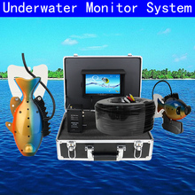 7 LCD monitor HD 1000TVL Waterproof 100m Cable Rechargeable Battery Fish Finder Underwater Fishing Video Camera with LED