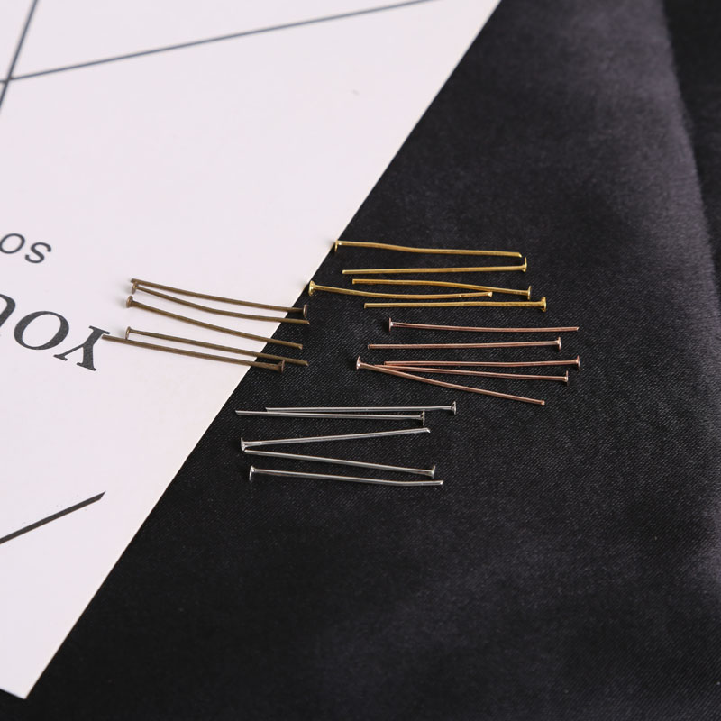 Hot Fashion 60-100pcs/lot Gold Silver White Black Stainless Steel Beautiful Eye Pins For Needlework DIY Finding Making