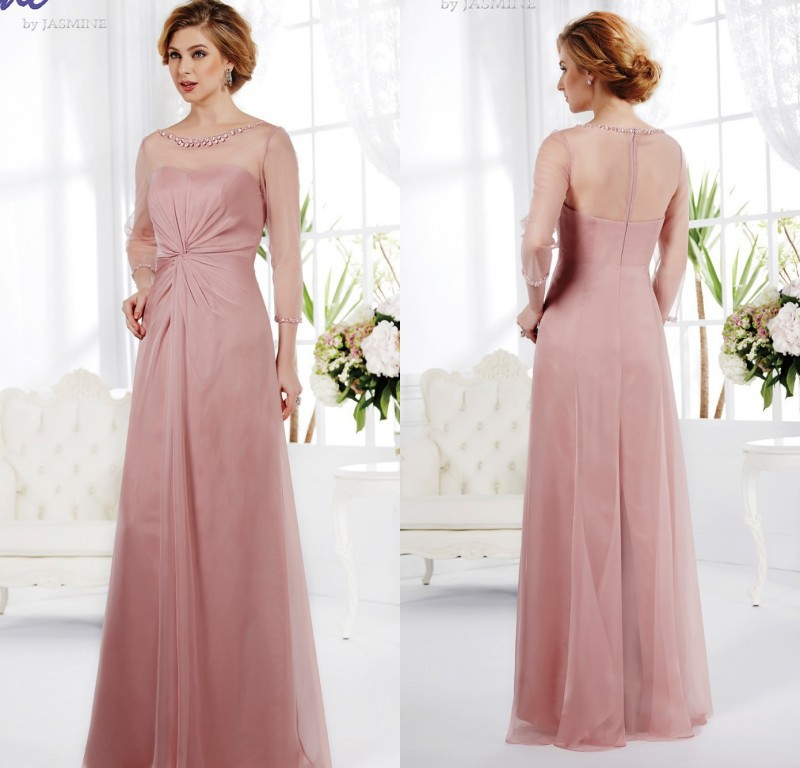 Stunning Charming Mother Groom Evening Dress 2015 Blush