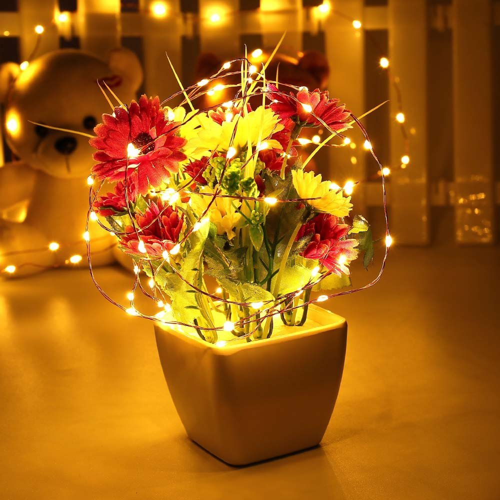 Starry String Lights 33ft 100LED Fairy Decorative Copper Wire Rope ...