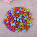 Fashion Colorful Acrylic Straight Hole Tear Drop Beads Wholesale European Natural Transparent Spacer Bead For DIY Jewelry Making