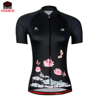 ZM 2019 Bike team Women black butterfly Cycling jersey tops/short sleeve bike clothing summer style Bicycle Clothes