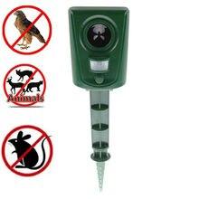Ultrasonic Pest Animal Repeller Repellent Garden Bat Cats Dogs Foxes Hogard Supplies Mouse