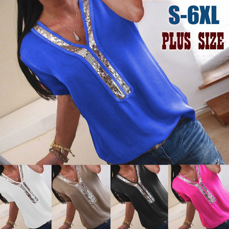 2019 Blouse Women Summer Aliexpress Explosion Models Europe Long-sleeved V-neck Zipper Chest Loose Chiffon Shirt Eff6190 Fast Color Blouses & Shirts