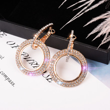 New design creative jewelry high-grade elegant crystal earrings round studs wedding party for woman