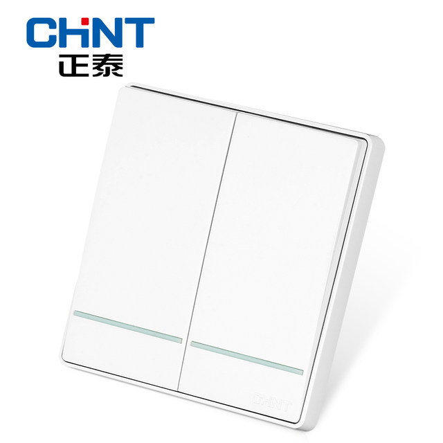 chint electric modern light switches wall switch socket new2d two gang two way panel switch