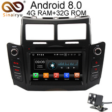 Sinairyu Android 8.0 8 Core 4G RAM Car DVD GPS For Toyota YARIS 2005-2007 2008 2009 2010 2011 WIFI Autoradio Multimedia Stereo