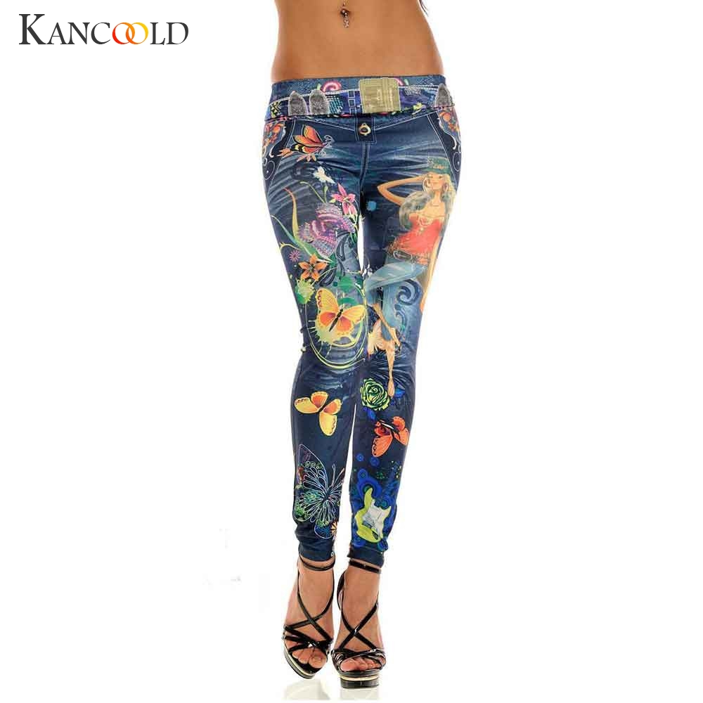 KANCOOLD   jeans   Sexy Womens Skinny Blue   Jean   Denim Stretchy Jeggings Pants fashion Snowflake   jeans   woman 2018Oct23
