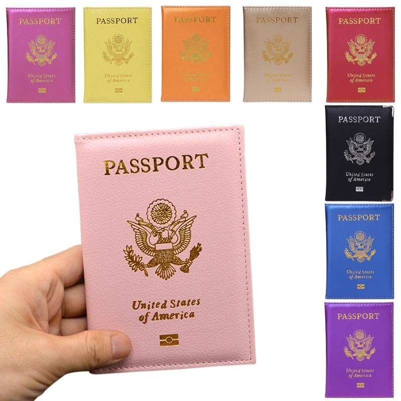 купить THINKTHENDO Candy Color Passport Travel Organizer Holder Card Case Protector American Cover по цене 66.64 рублей
