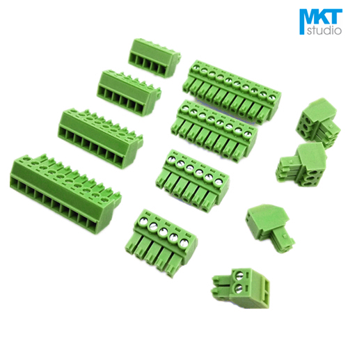 100Pcs 16P 3 5mm Pitch Right Angle Pin Female Pluggable Screw Terminal Block