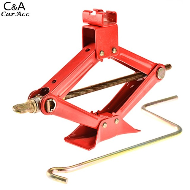 2016 New  Top quality Automotive Scissor Jack 1.5 Ton Car Truck SUV Motorcycle ATV Jacks Lifting Red  fast shipping US KB76