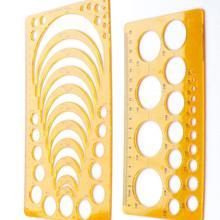 Ruler Geometric Plastic XRHYY Set-Of-2 Stencil Circle Drawing-Measuring-Template Radius