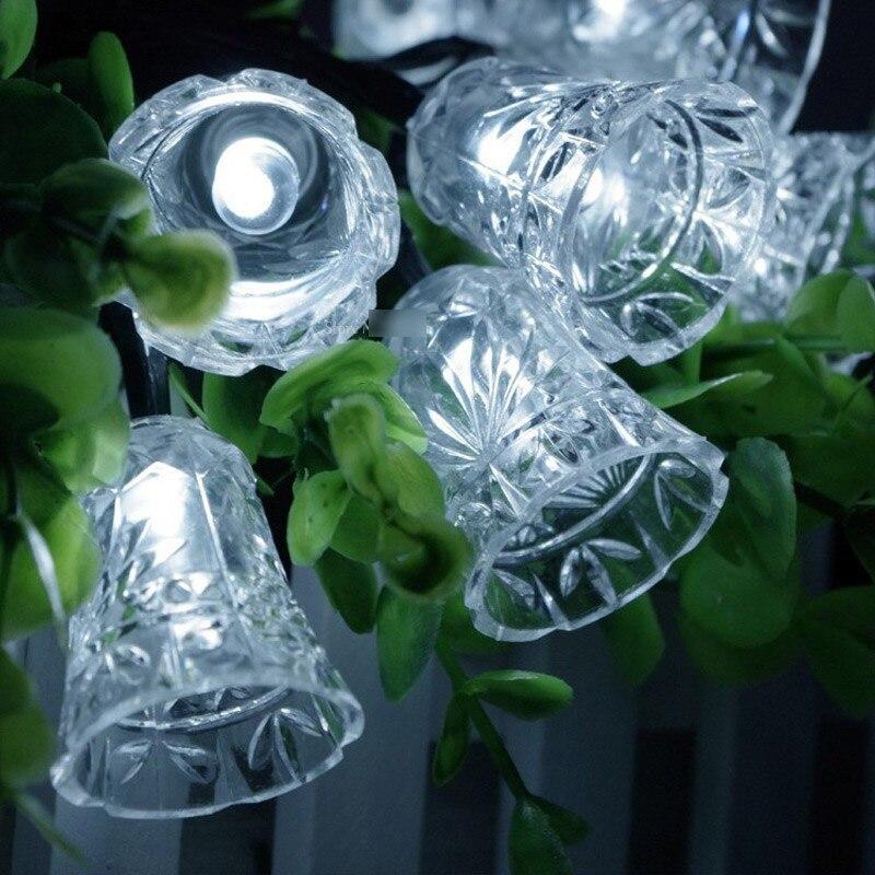 8M 50 LED petite cloche chaîne lumière décoration de fête de - Éclairage festif - Photo 3