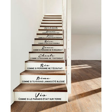 Escadas francesas adesivo de vinil removível escultura adesivo parede decalque arte deco pintura sala estar decoração casa decorationdw1008