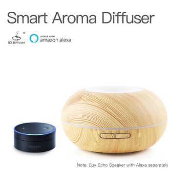 GX.Diffuser 300ML Smart Wifi APP Aroma Diffuser 7 LED Colorful Light Aromatherapy Essential Oil Aroma Diffuser With Amazon Alexa - DISCOUNT ITEM  48% OFF All Category
