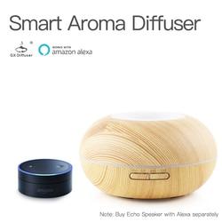 GX. dyfuzor 300 ML inteligentny Wifi APP Aroma dyfuzor 7 kolorowe światła LED aromaterapia OLEJEK ETERYCZNY Aroma dyfuzor z Amazon Alexa|Nawilżacze powietrza|   -