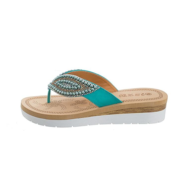 MLJUESE 2018 mujeres zapatillas de verano de color azul de cristal - Zapatos de mujer - foto 4