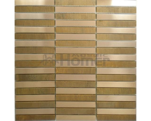 Lieblich Bronze Und Edelstahl Mosaik Metall Wandfliese Streifen Muster Esszimmer Wand  Fliesen Schlafzimmer Wand Dekor Metall