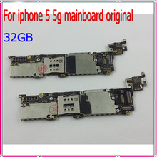 100% Test & Good Working 32GB Original Unlocked for iphone 5 5g Mainboard,Cellphone Motherboard with Chips Free Shipping