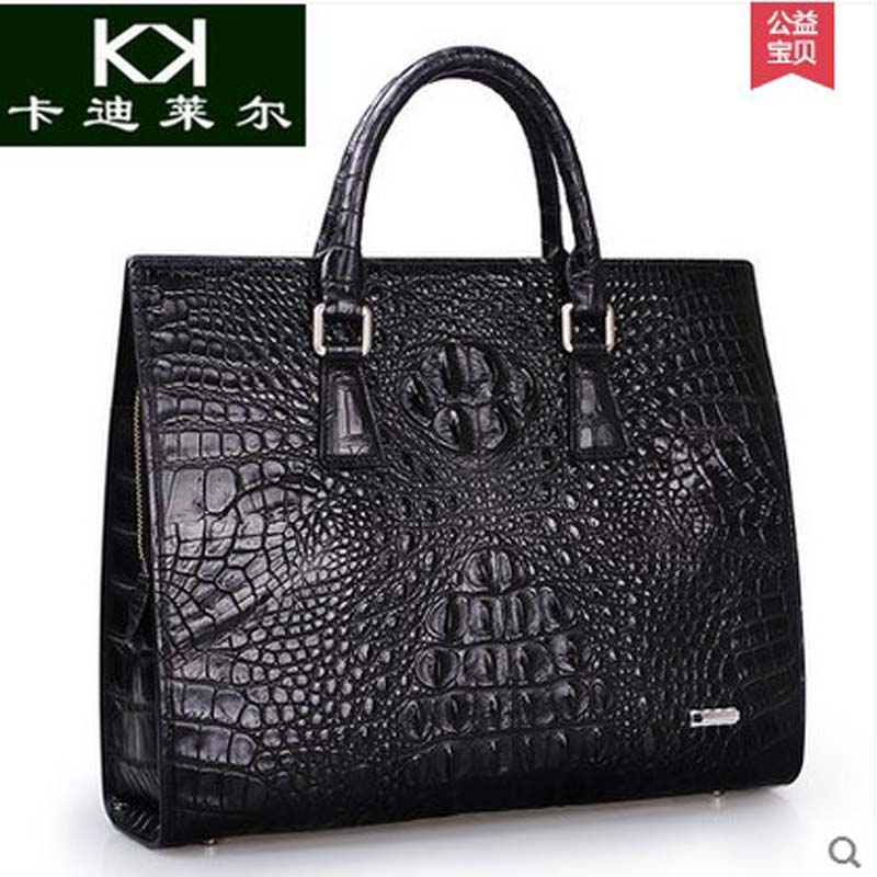KADILER 2017 new hot free shipping import crocodile leather handbag male package luxury  single shoulder bag  business men bag tihinco new authentic crocodile handbag single shoulder bag leather male fashion business and leisure bag document package