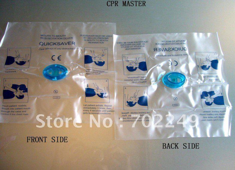 10% красный крест одноходовой клапан Защита лица Защитная маска Защита для искусственного дыхания для аптечки