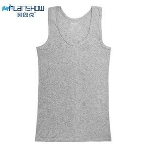 Image 4 - Camiseta interior de algodón sin mangas, camiseta sin mangas para gimnasio, camisetas de Fitness para hombre, camiseta de entrenamiento para culturismo, tienda de fábrica