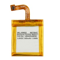 3.7V 300mAh Battery for HUAWEI WATCH 1 Li Polymer Rechargeable Bateria Replacement HB442528EBC 1ICP5/25/28+Track Code