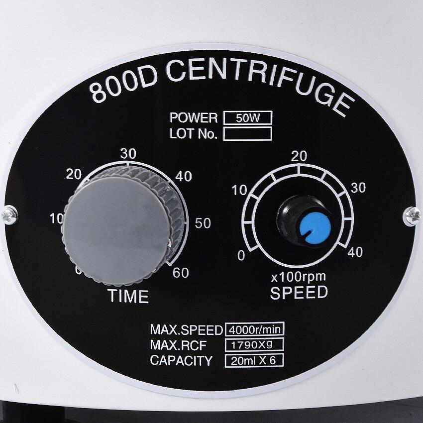 800d 110v 220v 4000rpm centrífuga elétrica do