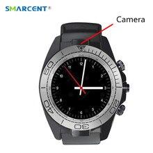 Лучшие Smarcent sw007 Bluetooth Smart часы с Камера шагомер Беспроводные устройства Поддержка sim-карта TF Для мужчин SmartWatch для Android телефон