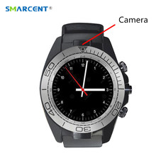 SMARCENT SW007 Bluetooth font b Smart b font Watch with Camera Pedometer Wearable Devices Support SIM