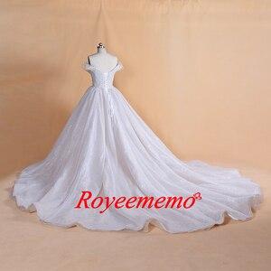 Image 5 - 2019 تصميم جديد بريق الدانتيل فستان الزفاف خاص أعلى ثوب زفاف صورة حقيقية مصنع صنع سعر الجملة فستان الزفاف