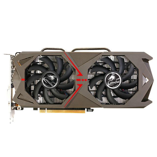 COLORFUL Mining Bitcoin 1060 Graphics Card 6GD5 1506-1708MHz PCI-E X16(3.0) DVI+HDMI+3DP Video Card 2 Fans GTX1060-6GD5 GAMING