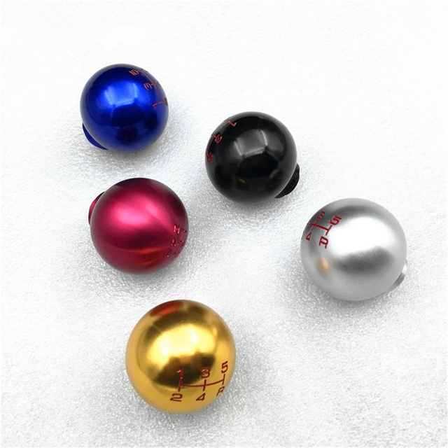 LUNASBORE--Universal 5 Speed Car Manual Auto Racing Gear Shifter Lever Shift Knob Gear Knob Red/Silver/Blue/Black For Honda